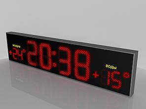 """Светодиодные часы/термометр """"NEW Clock"""" (Код изделия ЧТ 003)"""
