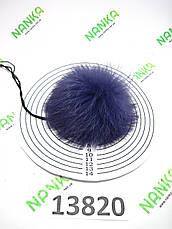 Меховой помпон Кролик, Фиолет, 9 см, 13820, фото 3