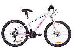 """Горный велосипед 26"""" Formula MYSTIQUE 1.0 AM 14G DD Al 2019 (бело-голубой с фиолетовым)"""