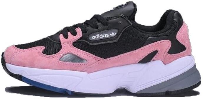 Женские кроссовки Adidas Falcon W Yung Black Pink White (Адидас Янг - 2,  черные 4deefc16c60