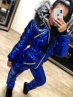 Женский лыжный зимний комбинезон Star\ электрик, фото 1