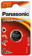 Батарейка таблетка CR2032 Panasonic Lithium блістер (1шт) (CR-2032EL/1B)