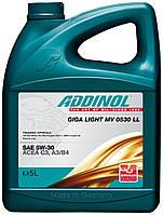 Синтетическое моторное масло легкого хода Addinol MV 0530LL Giga Light 205 литров