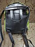 Женский рюкзак-сумка искусств кожа качество с двойная пайетка городской спортивный стильный опт, фото 5