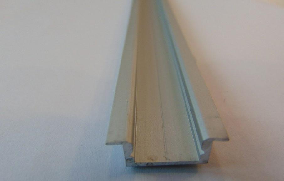 Алюминиевый врезной профиль ЛПВ-7 Б/А +линза рассеиватель