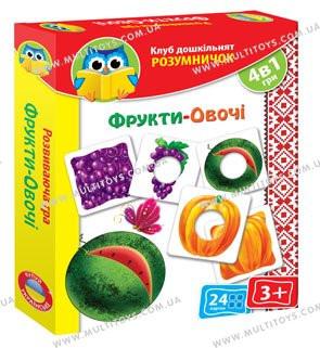 "Игра умничка ""Фрукти та Овочі"" укр. VT1306-06 Vladi Toys"
