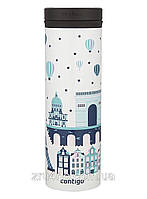 Tермокружка Contigo THERMALOCK TwistSeal EclipseTravel Mug 591 мл., White (Paris), фото 1