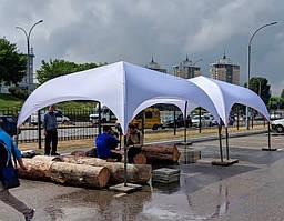 """Палатка """"Парк-4""""  белая 4х4м без штор в АРЕНДУ - Киев"""