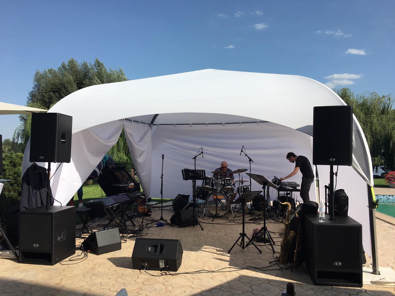 """Палатка """"Парк-5 с шторами"""" белая на 20-30 человек в АРЕНДУ"""