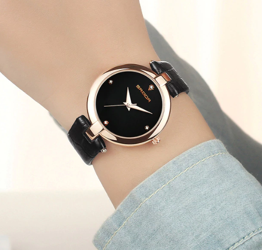 97018ca280a75 Женские наручные часы Sanda 2017 Saat Relogio feminino P196 Black/Black -  интернет-магазин