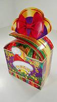 Новогодняя коробка для конфет №117а(Бант фиолет500) (25 шт)