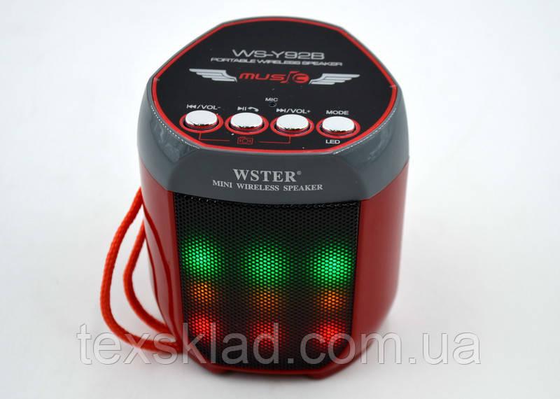 Переносная колонка WS-Y92 (Bluetooth/USB/FM)