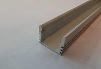 Алюминиевый накладной профиль для светодиодных лент ЛП12+линза рассеиватель (ГОСТ)