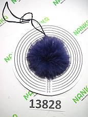 Меховой помпон Кролик, Фиолет, 8 см, 13828, фото 3