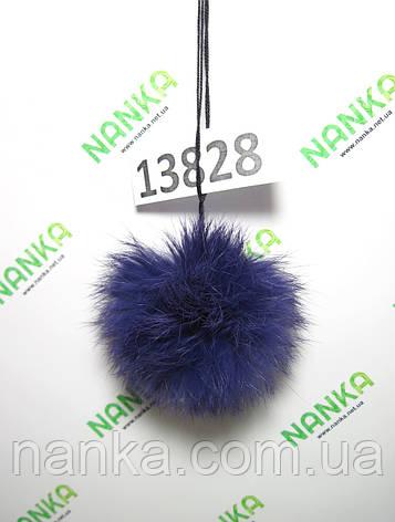 Меховой помпон Кролик, Фиолет, 8 см, 13828, фото 2