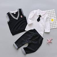 Костюм дитячий для хлопчика сорочка штани, жилетка 100