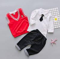 Комплект для мальчика штаны рубашка жилетка, фото 1