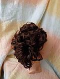 Шиньон-накладка на гребешках удлиненная каштановый 902А-33, фото 3