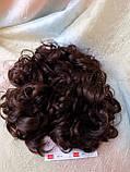 Шиньон-накладка на гребешках удлиненная каштановый 902А-33, фото 5