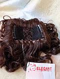 Шиньон-накладка на гребешках удлиненная каштановый 902А-33, фото 6