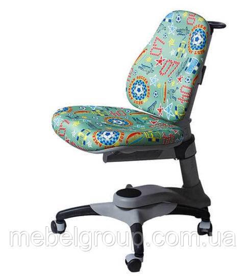 Детское ортопедическое кресло Comf-Pro OXFORD KY-618 зеленое футбол