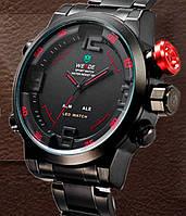 Мужские часы WEIDE Sport Watch, с красным. БЕЗ БРАКА!