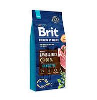 Сухой корм Brit Premium Sensitive Lamb для собак с чувствительным пищеварением со вкусом ягненка 15кг