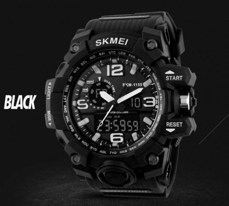 Тактические мужские часы Skmei  1155 HAMLET Black