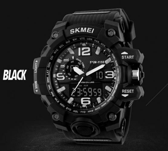 • Оригинал! Skmei(Скмей) 1155 HAMLET Black  Тактические мужские часы!