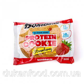 BomBBar Протеиновое печенье КЛУБНИКА