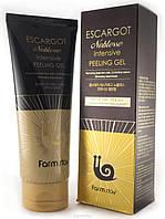 Интенсивный пилинг-гель с экстрактом королевской улитки FARMSTAY Escargot Noblesse Intensive Peeling Gel180мл
