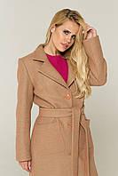 """Демисезонное женское бежевое пальто """"Вива"""" , фото 1"""