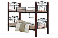 Кровать Миранда двухъярусная каштан