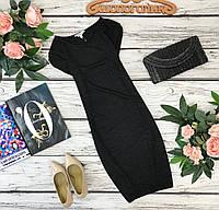 Базовое платье черного цвета из ткани с отблеском  DR1835002