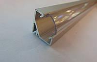 Угловой алюминиевый led профиль ЛПУ-17 Б/А + линза рассеиватель