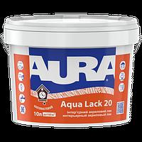 Aura Aqua Lack 20 Белый, 10 л - Акриловый лак водоразбавимый интерьерный, после высыхания бесцветный