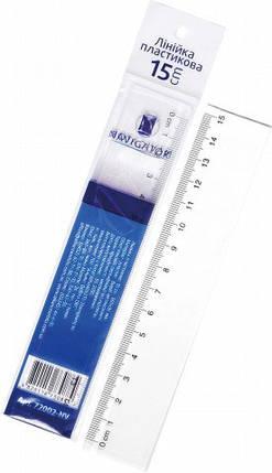Лінійка 15см NV-72002 пластмасова, фото 2
