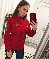 Женский кардиган с кулиской и декором 33BL200, фото 1