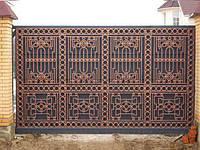 """Ворота дворовые, откатные. Эксклюзивная ручная ковка. Итальянская фурнитура. Покраска эмалью """"Alpina"""""""
