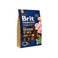 Сухой корм Brit Premium Adult M для взрослых собак средних пород со вкусом курицы 15 кг
