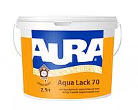 Aura Aqua Lack 70 Белый, 2,5 л Лак акриловый глянцевый интерьерный, после высыхания бесцветный