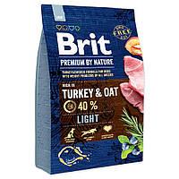 Сухой корм Brit Premium Light для собак с избыточным весом со вкусом индейки 15 кг