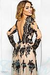 Шикарное вечернее платье ручной работы, фото 4