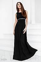 Длинное платье ампир с длинной спиной черное