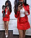 Джинсовый юбочный женский костюм с пиджаком 9ks762, фото 2