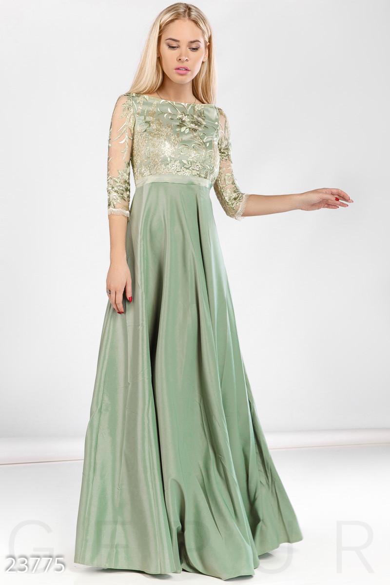 Роскошное торжественное платье в пол