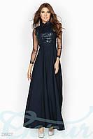 Шикарное вечернее черное платье в пол
