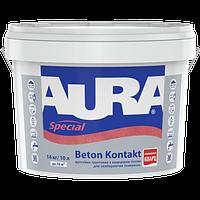 Aura Beton Kontakt Розовый 10 л -  Грунтовка адгезионная с кварцевым песком для невпитывающих поверхностей