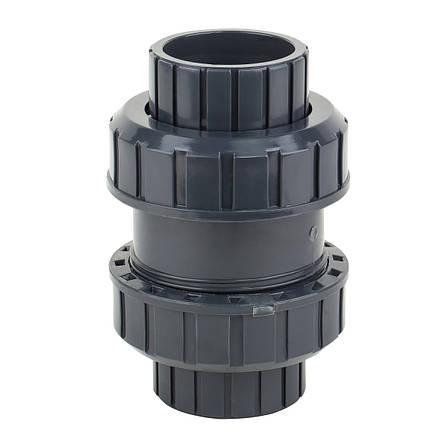 Обратный клапан шаровый ERA, ПВХ,  диаметр 40 мм., фото 2