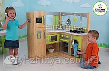 Дитяча дерев'яна яна кутова Кухня Kidkraft